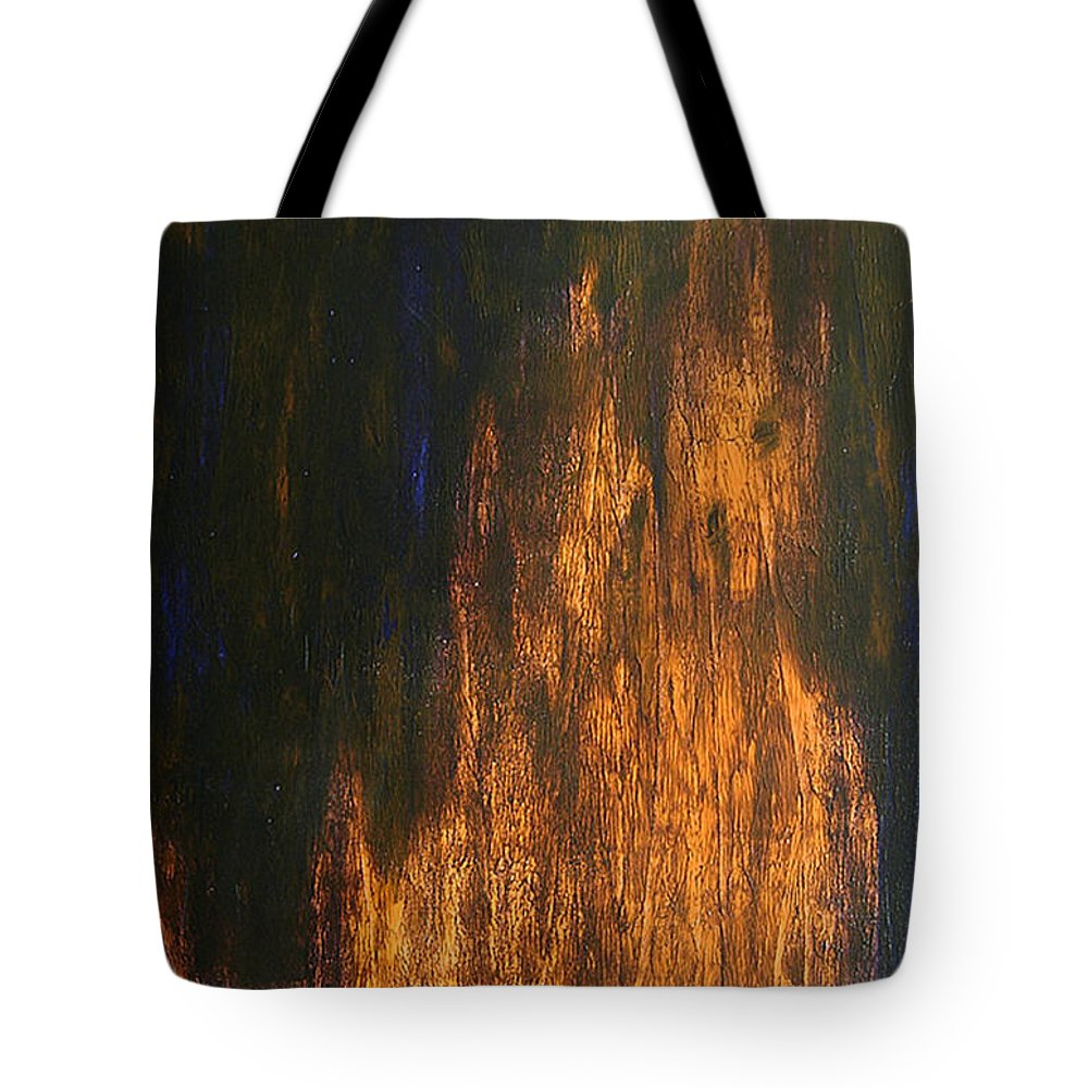 Mystery Tote Bag featuring the painting Half-faced 2007 by RalphGM