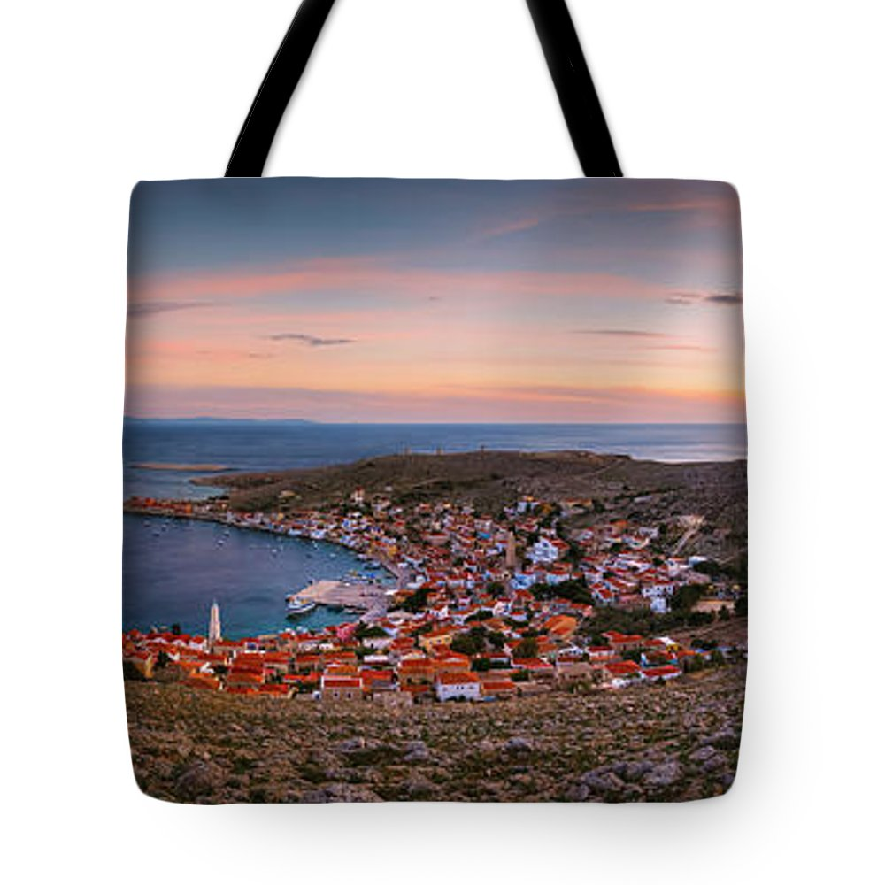 Greece Tote Bag featuring the photograph halki 'XXIV by Milan Gonda