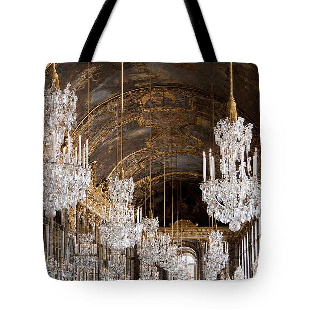 Versailles Tote Bag featuring the photograph Hall Of Mirrors Palace Of Versailles France by Jon Berghoff