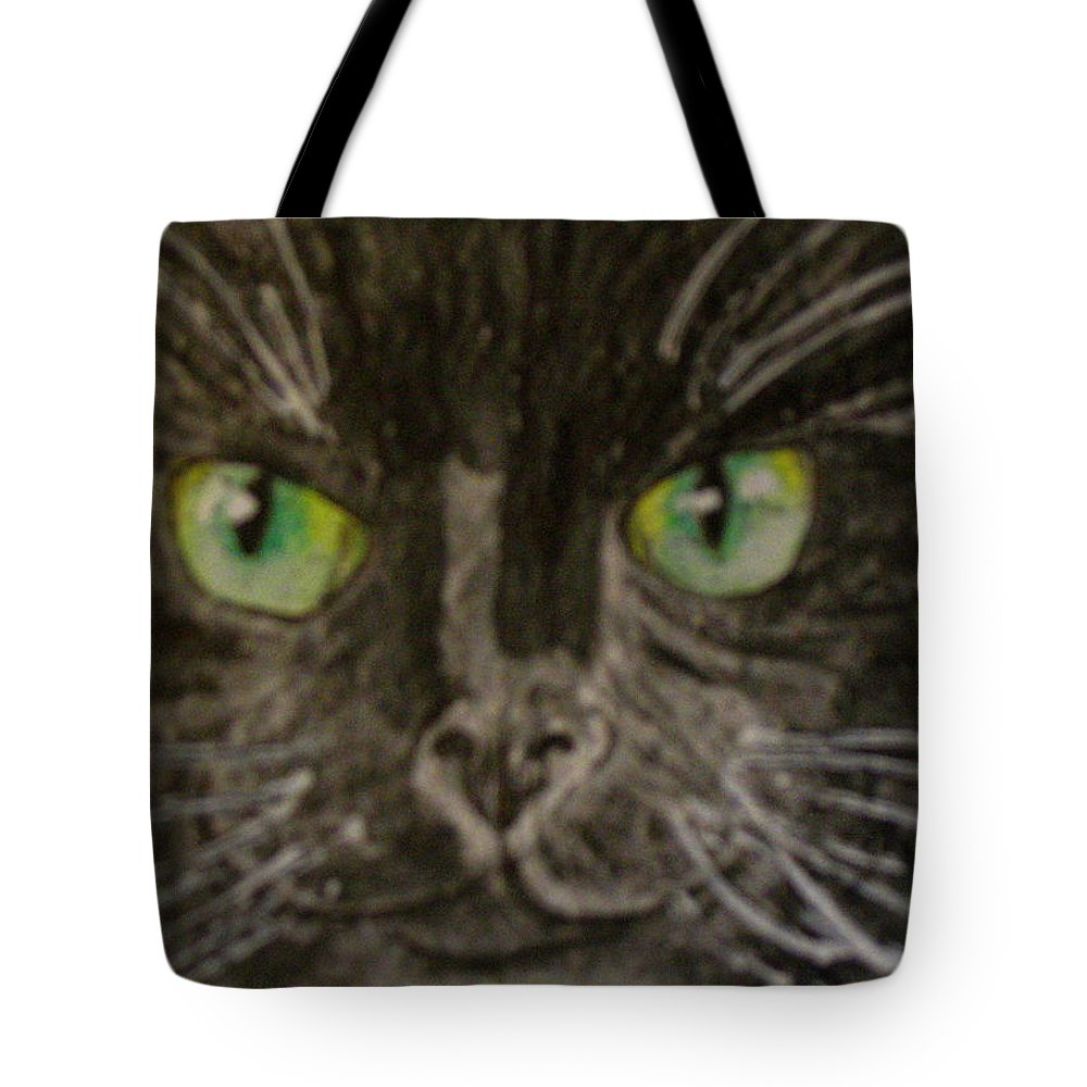 Halloween Tote Bag featuring the painting Halloween Black Cat I by Kathy Marrs Chandler
