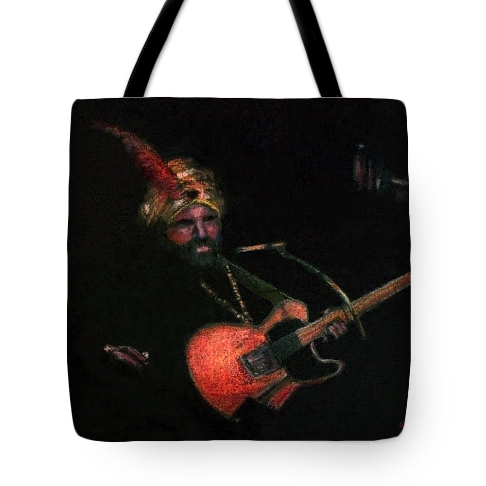Guitar Tote Bag featuring the pastel Halloween Gig by Arline Wagner