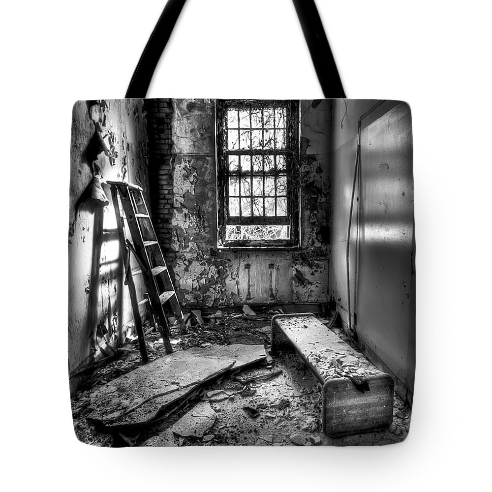 Ladders Photographs Tote Bags