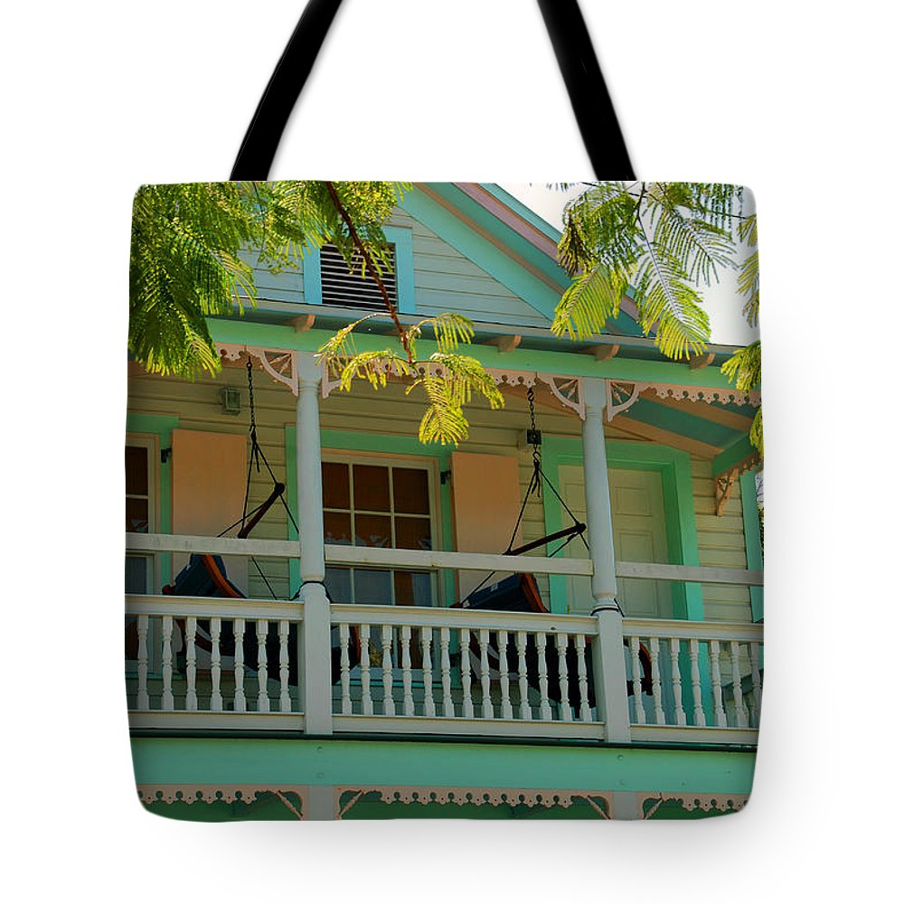 Hammocks Tote Bag featuring the photograph Hammocks In Paradise by Susanne Van Hulst