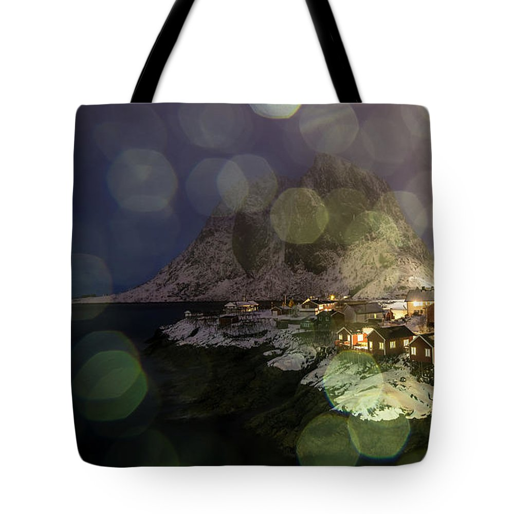 Norway Tote Bag featuring the photograph Hamnoy During A Storm by Adrian Salcu