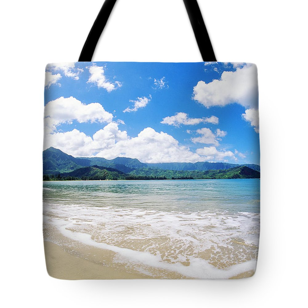 Afternoon Tote Bag featuring the photograph Hanalei Bay by Greg Vaughn - Printscapes