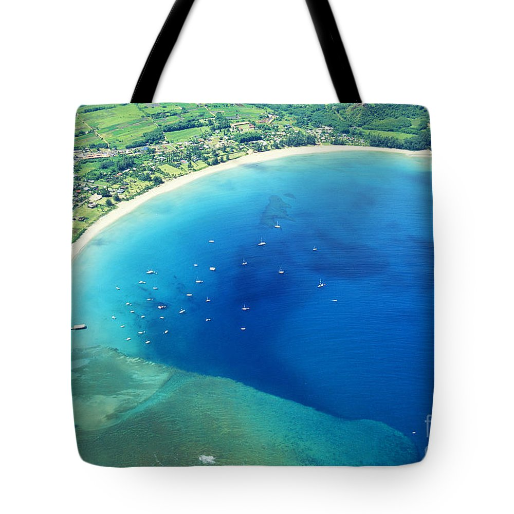 Above Tote Bag featuring the photograph Hanalei Bay by William Waterfall - Printscapes
