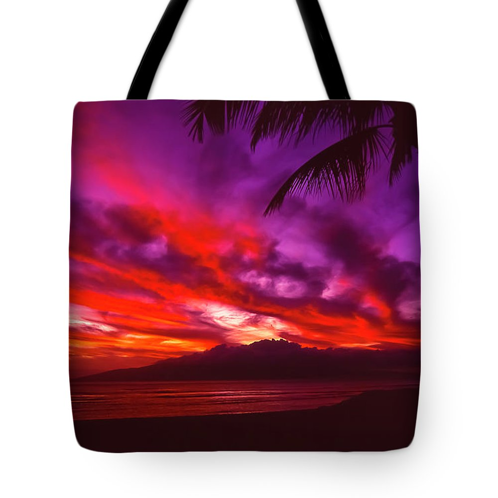 Landscapes Tote Bag featuring the photograph Hand Of Fire by Jim Cazel
