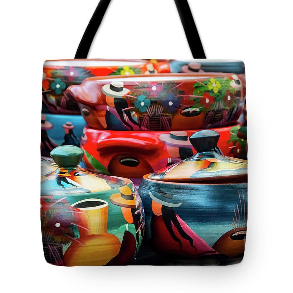 Pisac Market Peru Tote Bag featuring the photograph Hand Painted by Bob Phillips