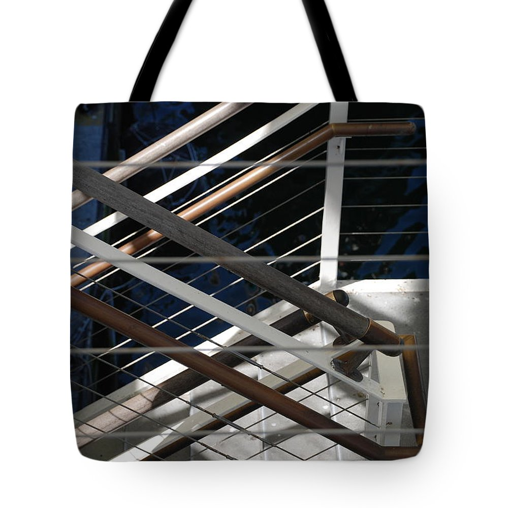 Water Tote Bag featuring the photograph Hand Rails by Rob Hans