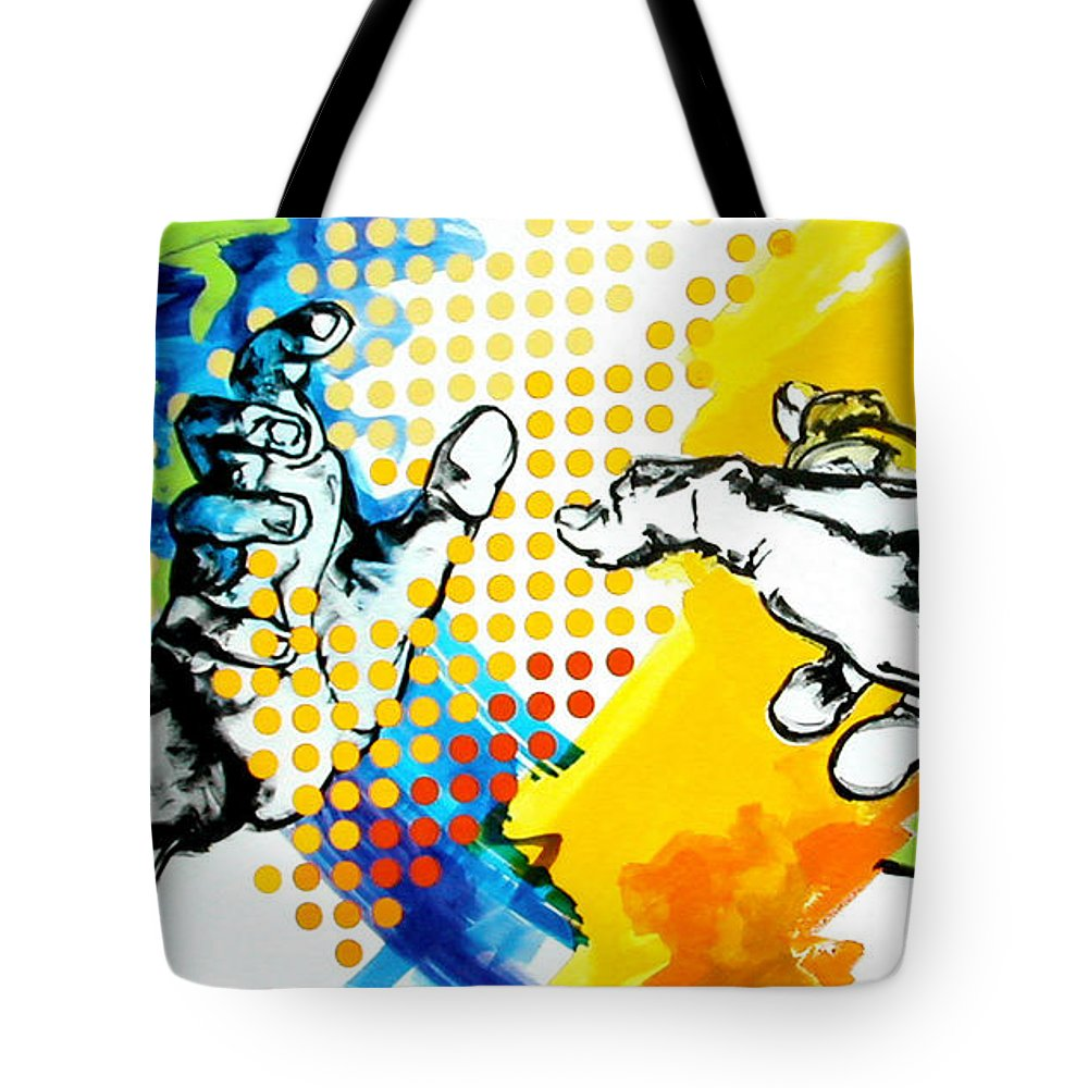 Classic Tote Bag featuring the painting Hands by Jean Pierre Rousselet