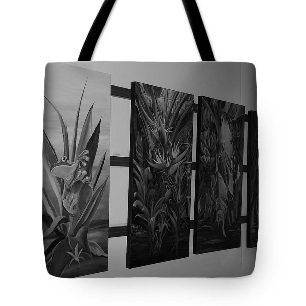 Black And White Tote Bag featuring the photograph Hanging Art by Rob Hans