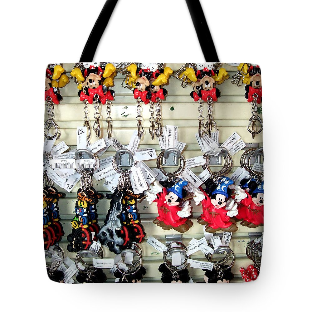 Mickey Mouse Tote Bag featuring the photograph Hanging Out With Mickey And Minnie by Mindy Newman