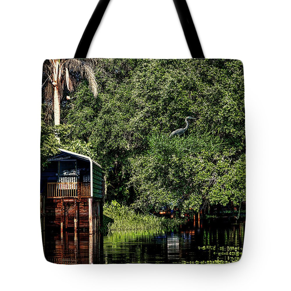 Florida Tote Bag featuring the mixed media Hanks Roost by Rogermike Wilson