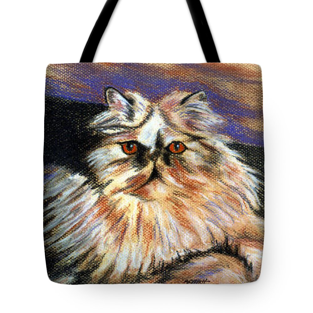 Cat Tote Bag featuring the pastel Hannah by Marsha Elliott