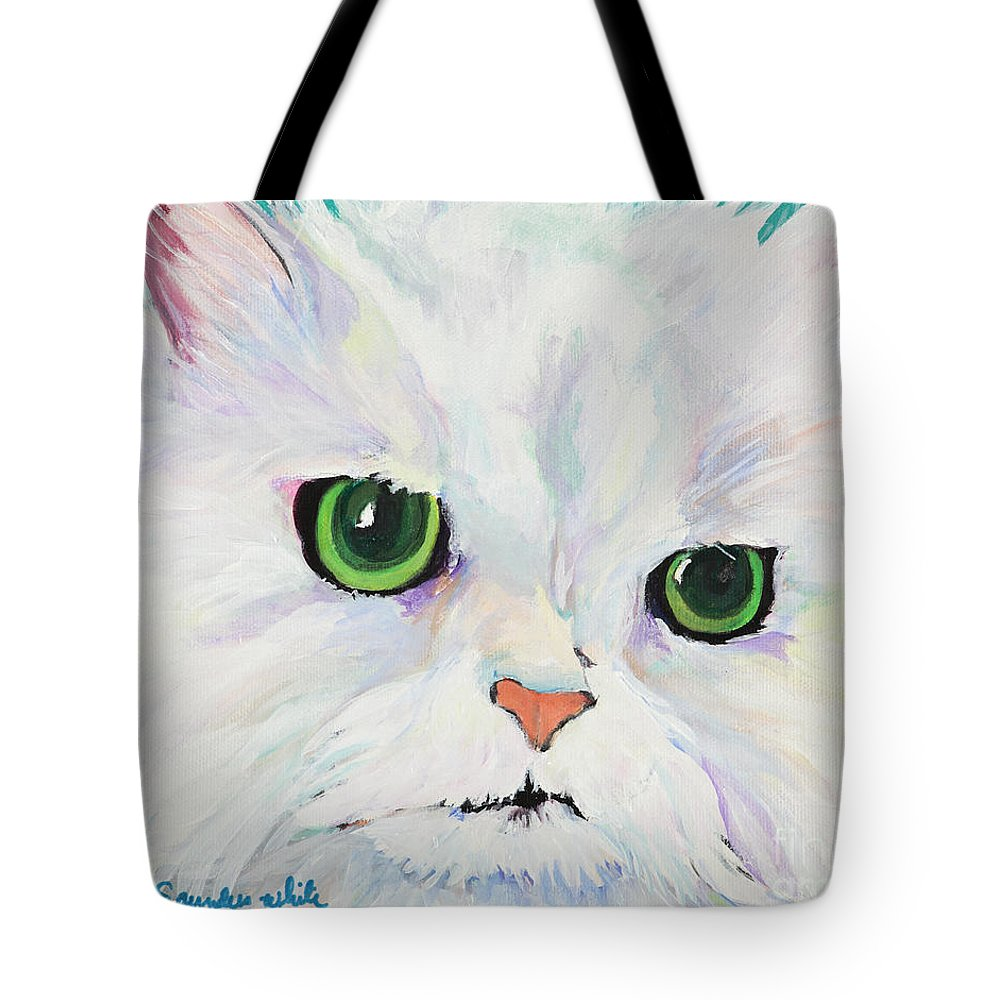 Acrylic Tote Bag featuring the painting Hannah by Pat Saunders-White