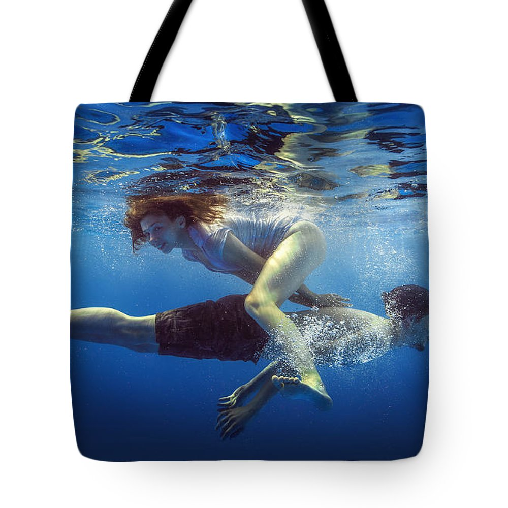 Girl Tote Bag featuring the photograph Happiness by Dmitry Laudin