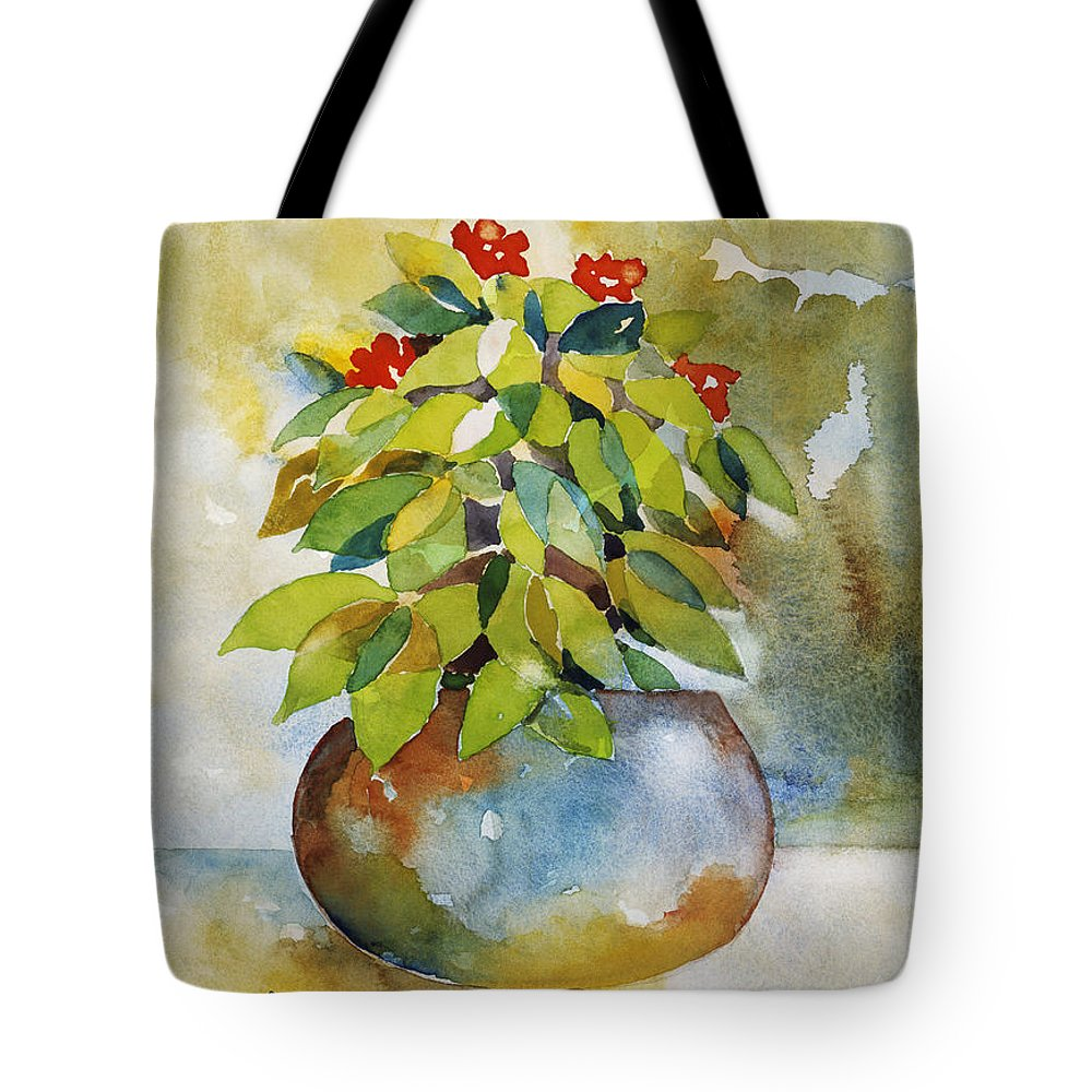 Art Tote Bag featuring the painting Happiness by Han Choi - Printscapes
