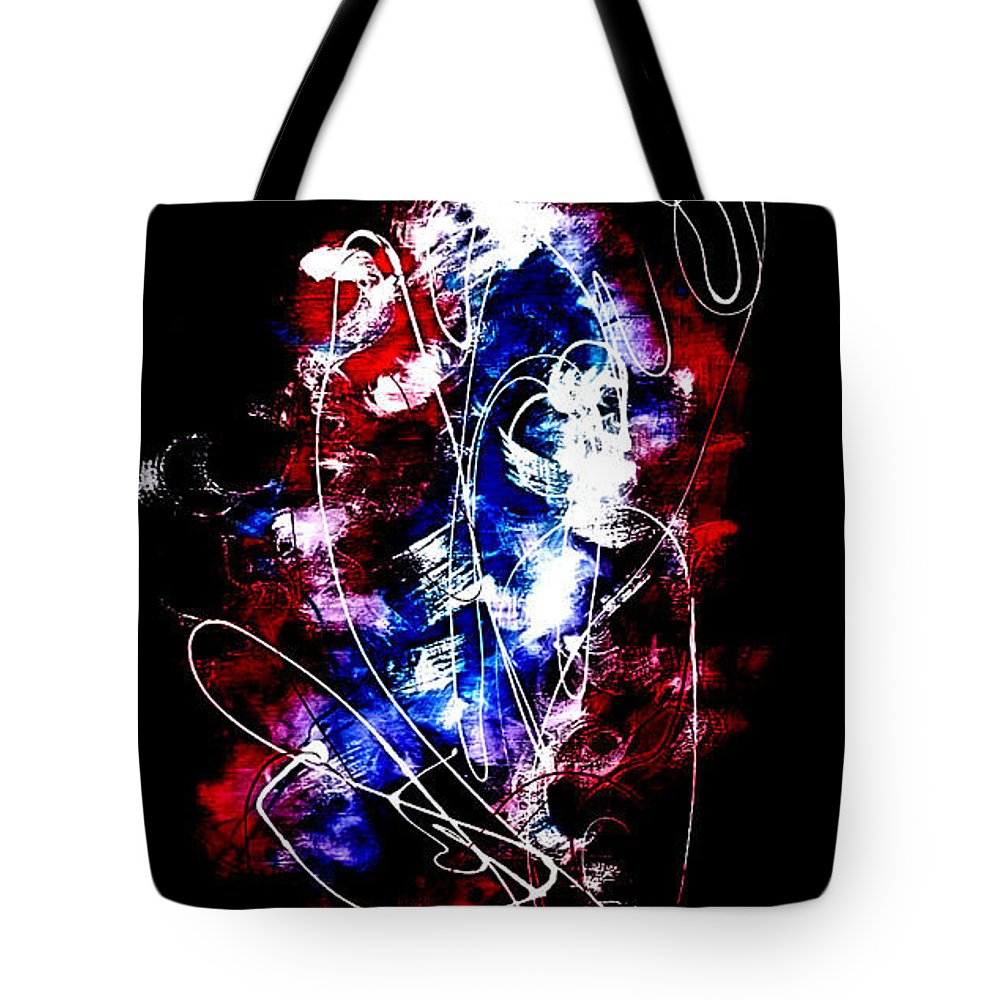 Abstract Painting Tote Bag featuring the painting Happiness In Pandamouim by Chembaline Uche