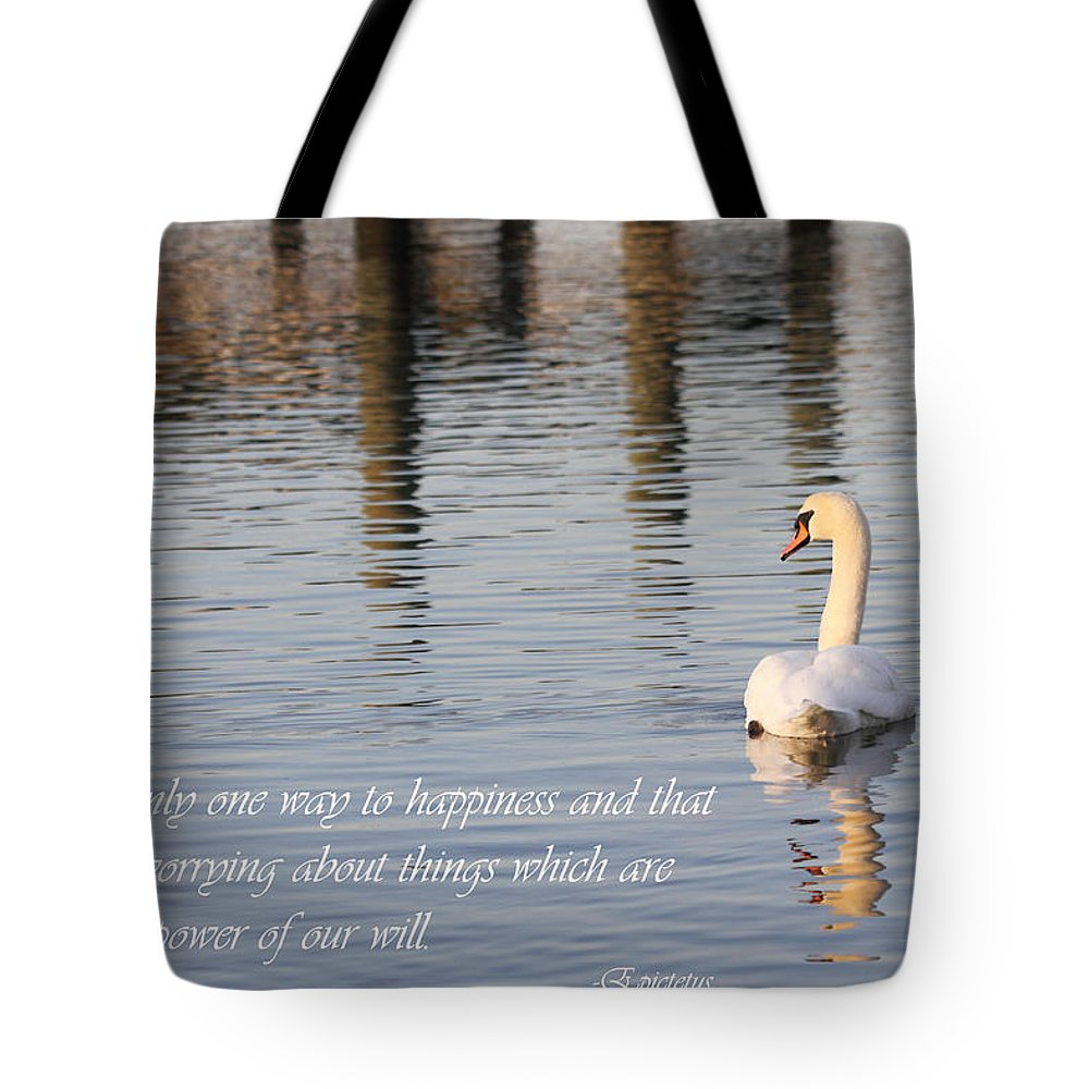 Swan Tote Bag featuring the photograph Happiness Is by Mary Haber