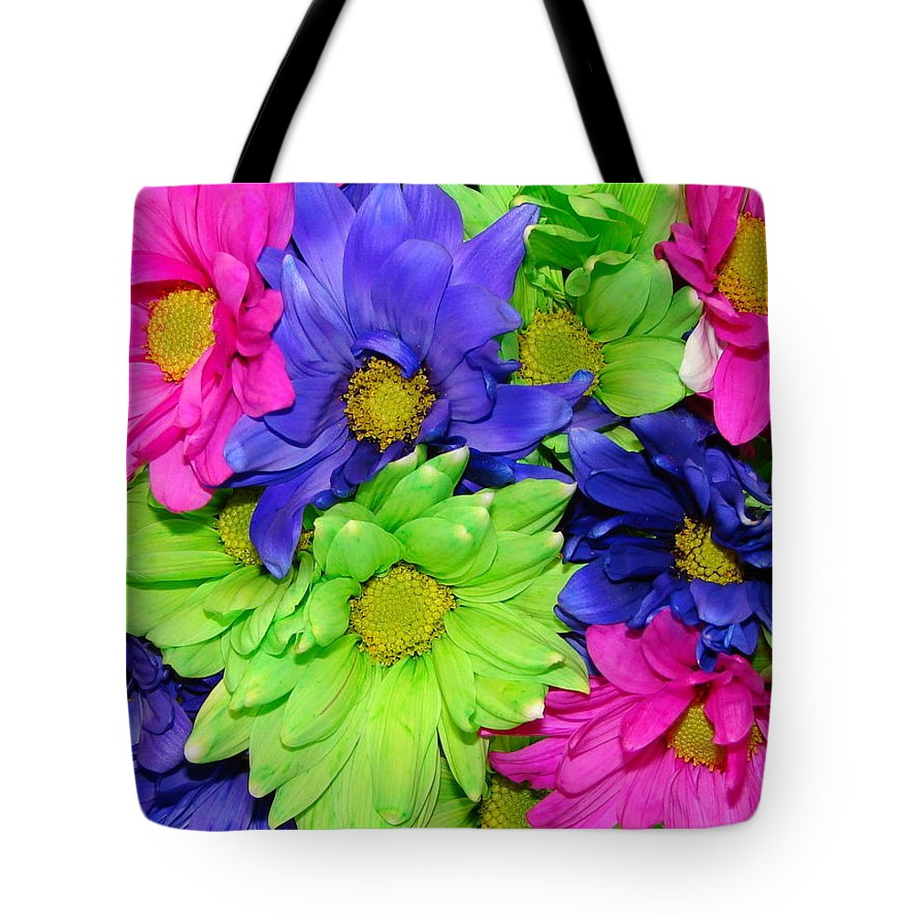 Flowers Tote Bag featuring the photograph Happiness by J R  Seymour