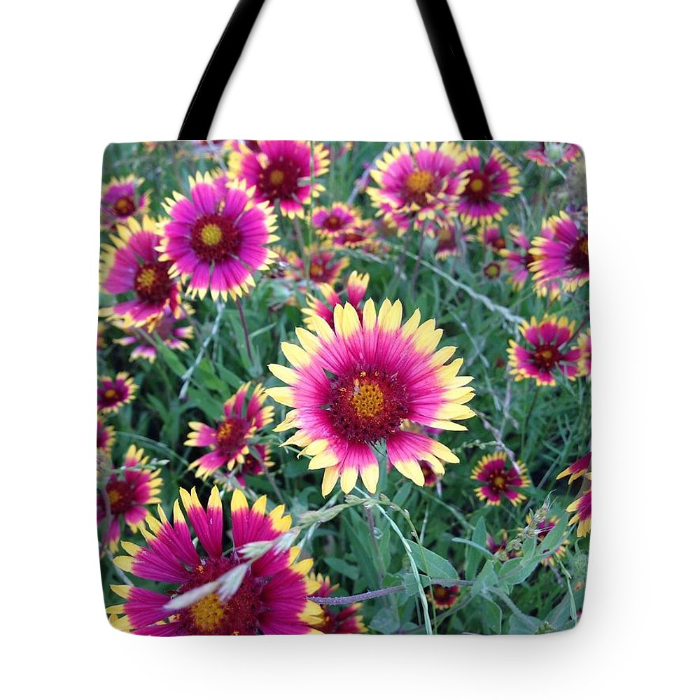 Flowers Tote Bag featuring the photograph Happiness by Marie Millard