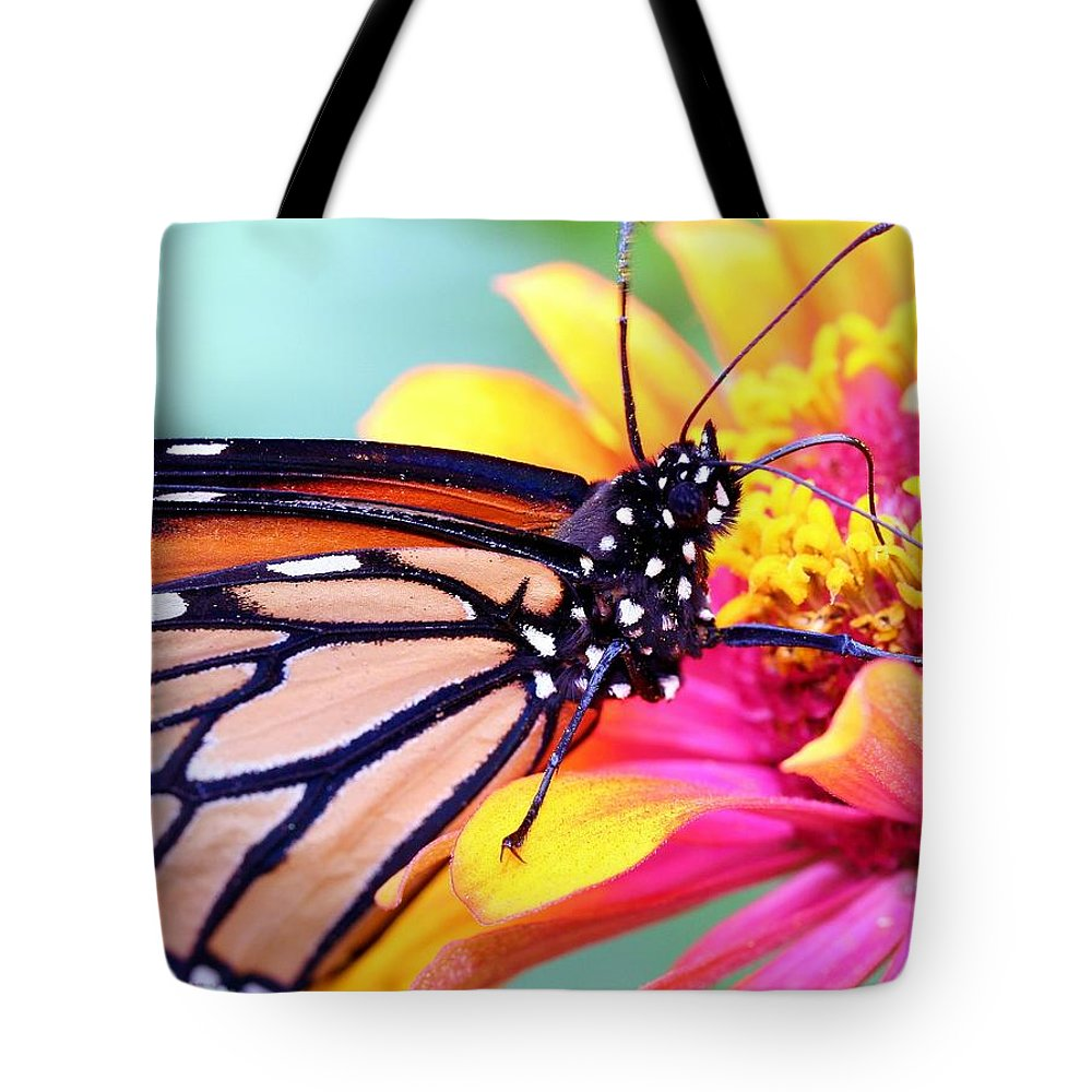 Butterfly Tote Bag featuring the photograph Happiness by Mitch Cat