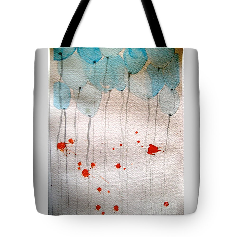 Balloon Celebrate Fun Happy Play Tote Bag featuring the painting Happy Birthday Katherine by Patricia Caldwell