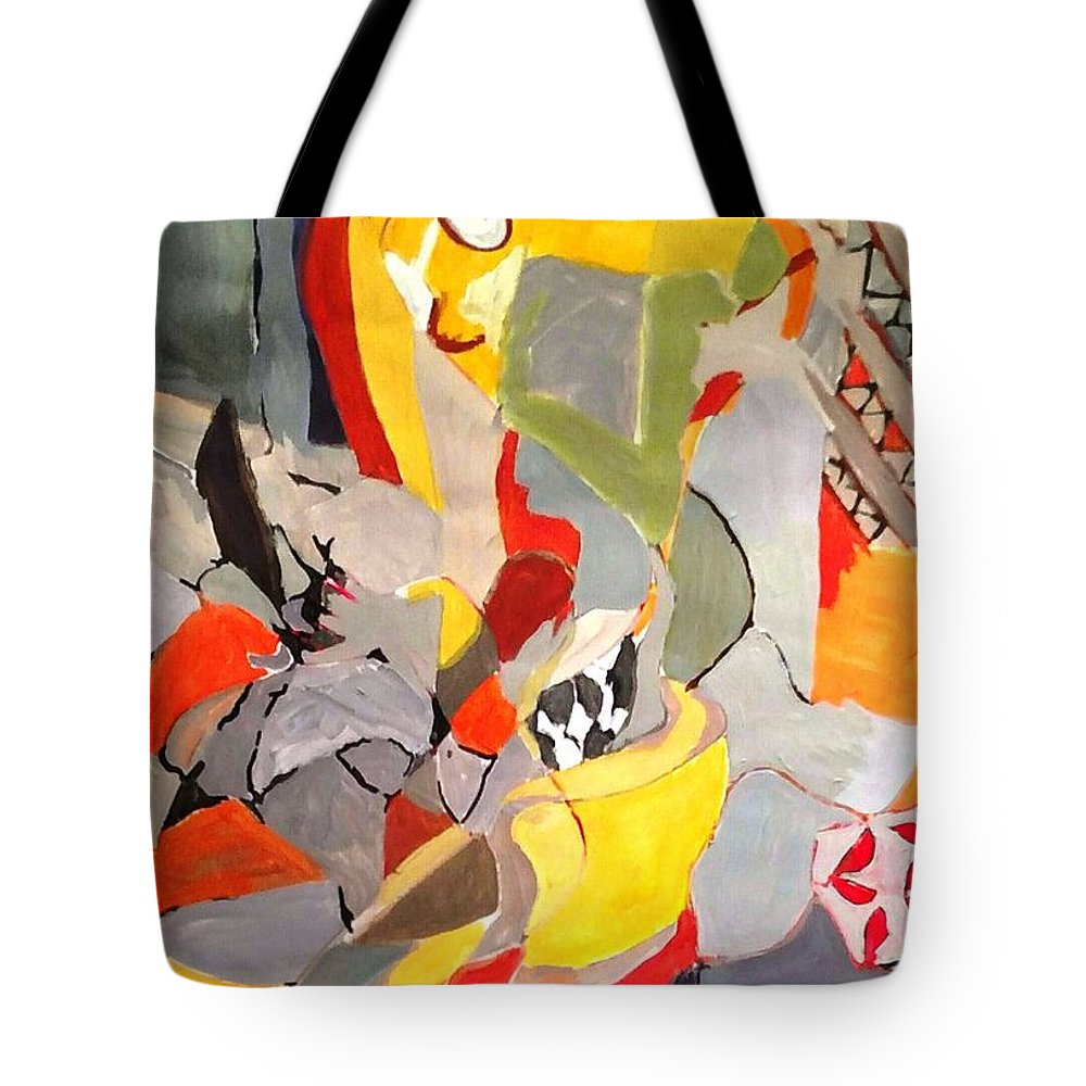 Tote Bag featuring the painting Happy Chair by Susan Price