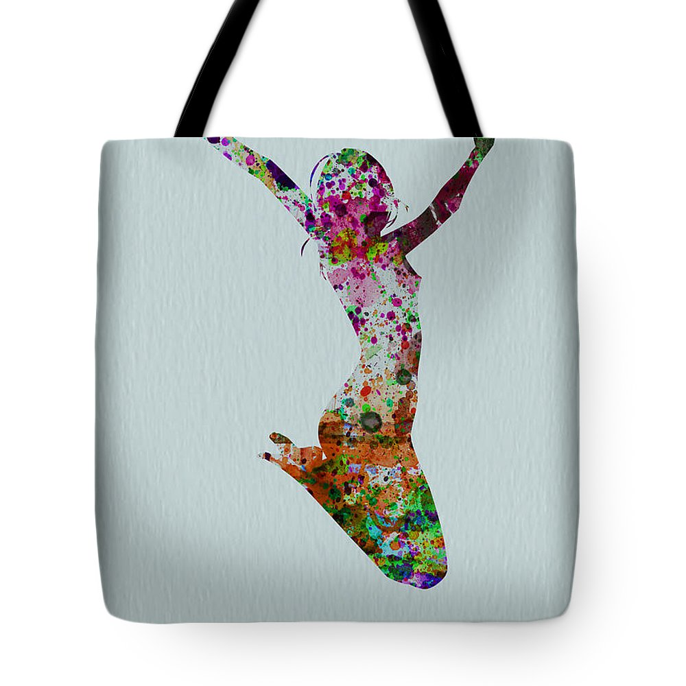 Tote Bag featuring the painting Happy Dance by Naxart Studio