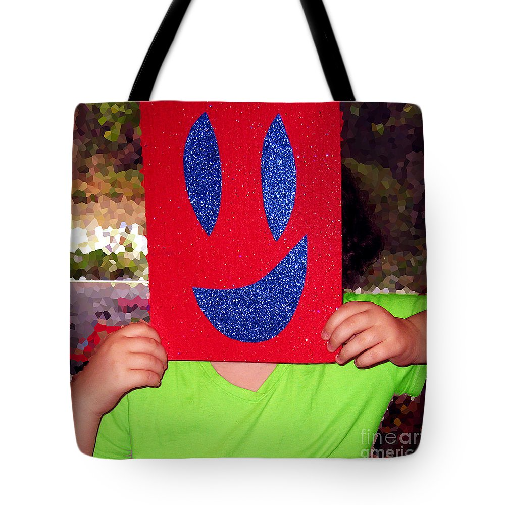 Happy Face Tote Bag featuring the photograph Happy Face by Rhonda Chase