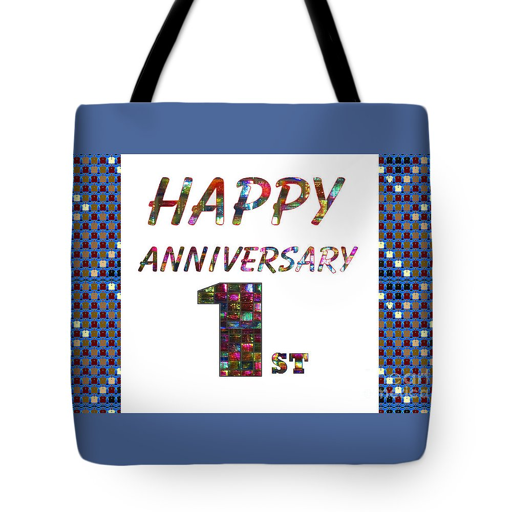 Happy First 1st Anniversary Celebrations Design On Greeting Cards T