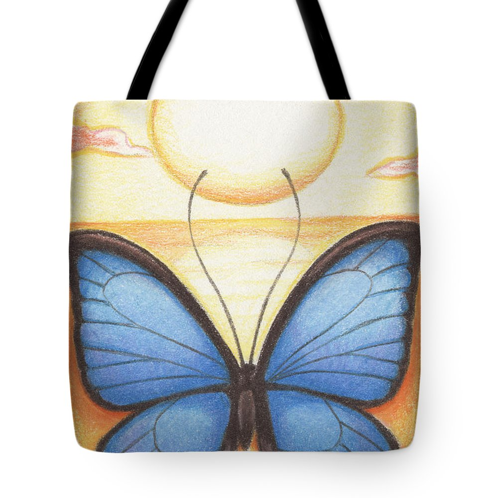 Atc Tote Bag featuring the drawing Happy Heart by Amy S Turner