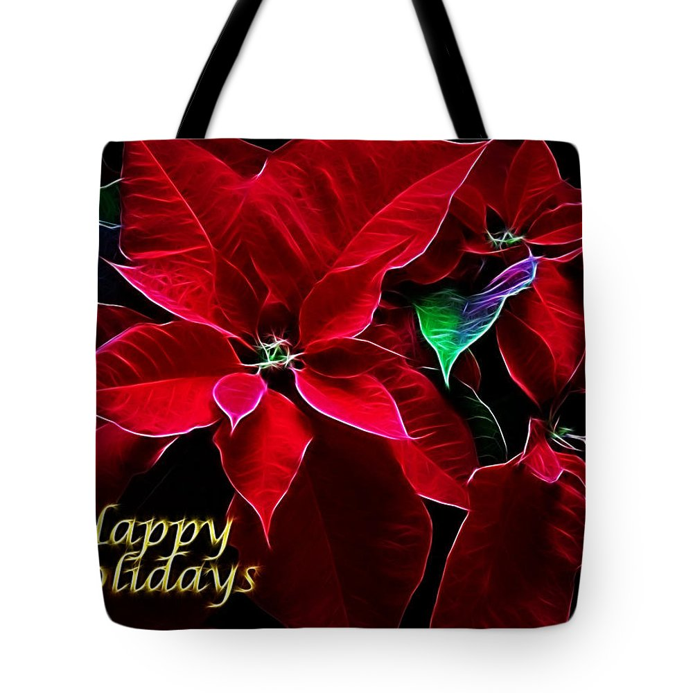 Christmas Tote Bag featuring the photograph Happy Holidays by Sandy Keeton