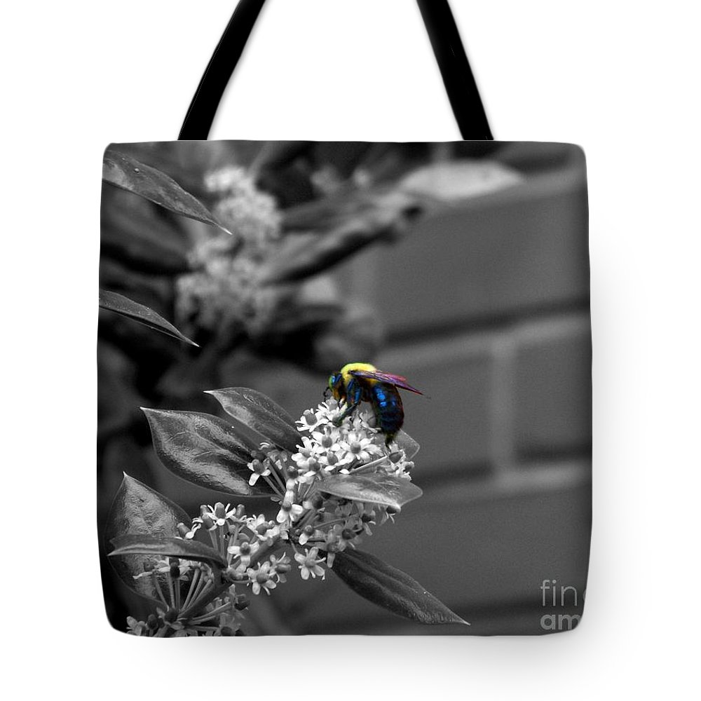 Bee Tote Bag featuring the photograph Happy Hour by Jai Johnson