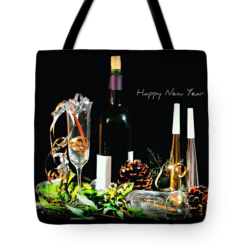 Still Life Tote Bag featuring the photograph Happy New Year by Diana Angstadt