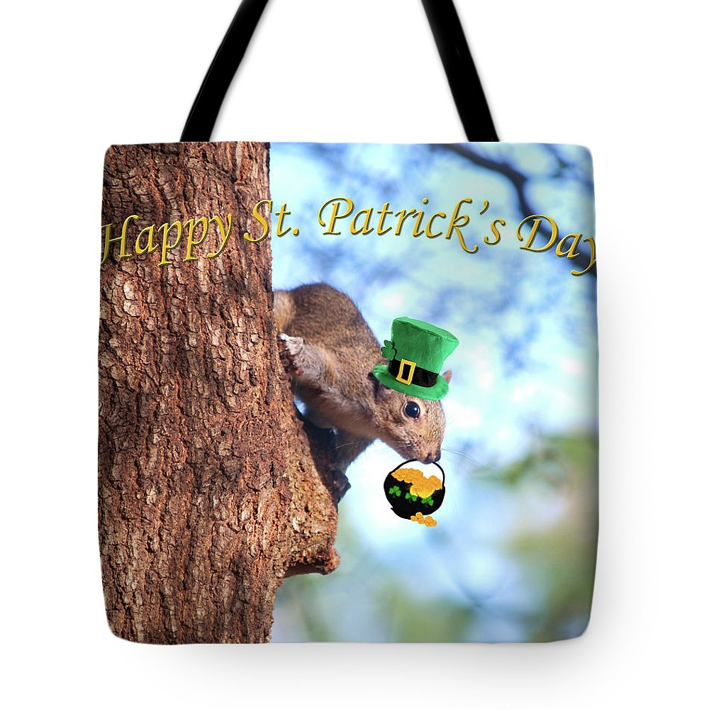 Happy St. Patrick's Day Tote Bag featuring the photograph Happy St. Pat's Day Card by Adele Moscaritolo
