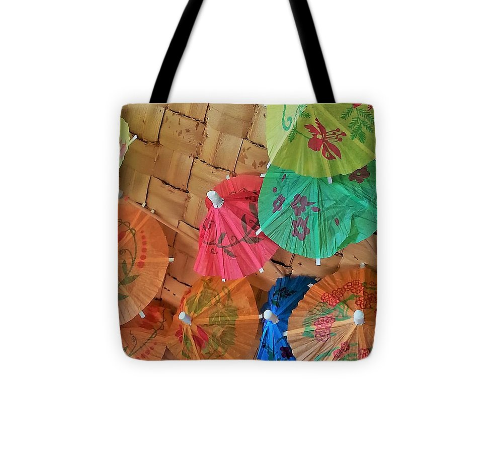 Tropical Tote Bag featuring the photograph Happy Umbrellas by Jennie Stewart