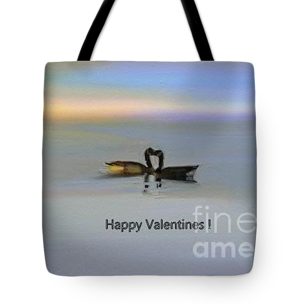 Happy Valentines Tote Bag featuring the painting Happy Valentines by Aline Halle-Gilbert
