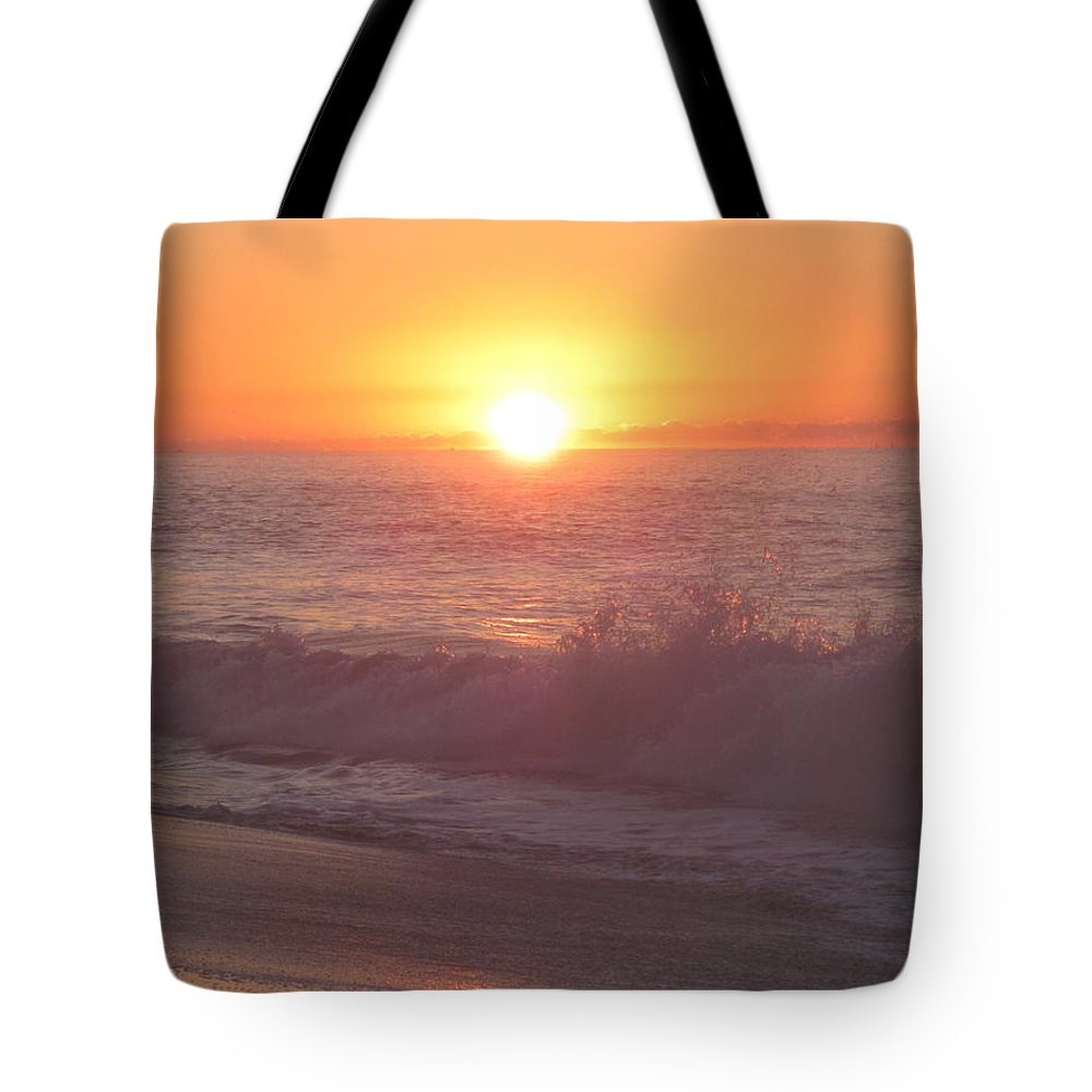 Sunrise Tote Bag featuring the photograph Happy Waters by Fredrecka Bagnato