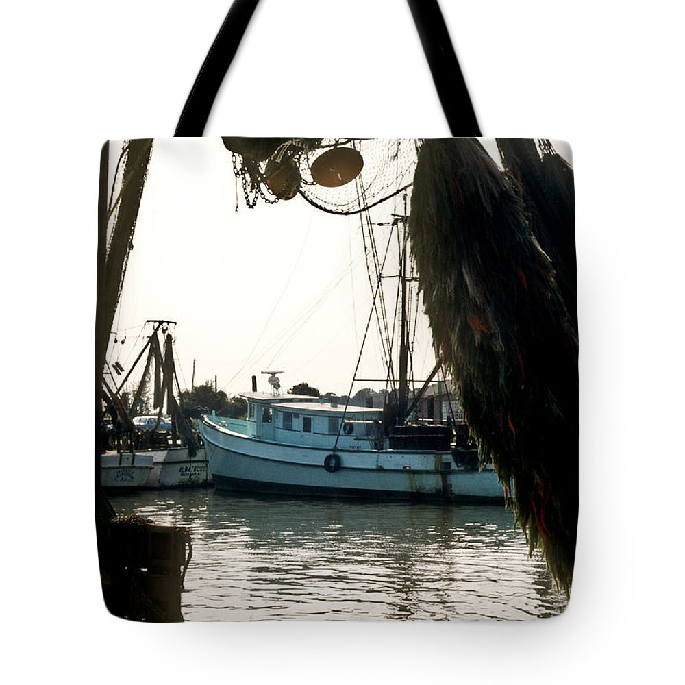 Harbor Tote Bag featuring the photograph Harbor Boats by Douglas Barnett