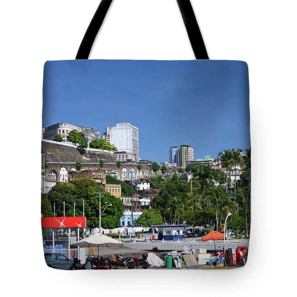 Salvador Tote Bag featuring the photograph Harbor In Salvador Da Bahia Brazil by Ralf Broskvar