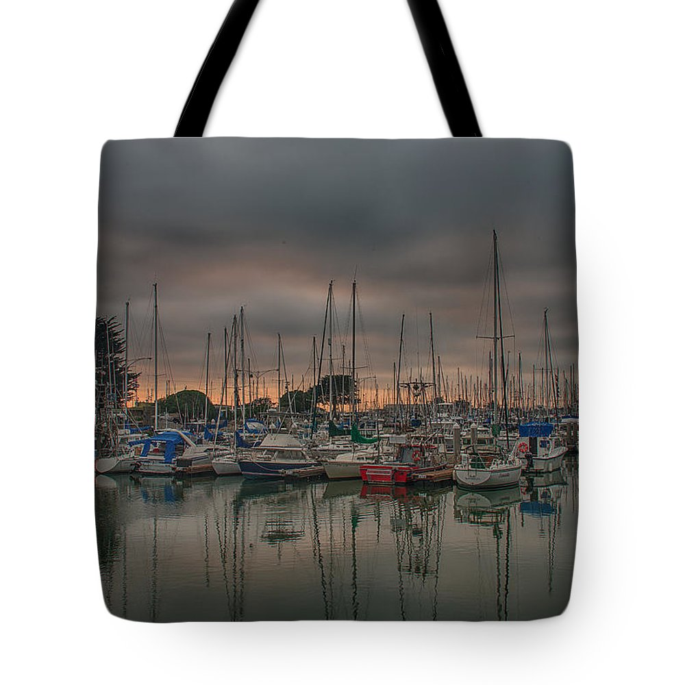 Central California Coast Tote Bag featuring the photograph Harbor Light by Bill Roberts