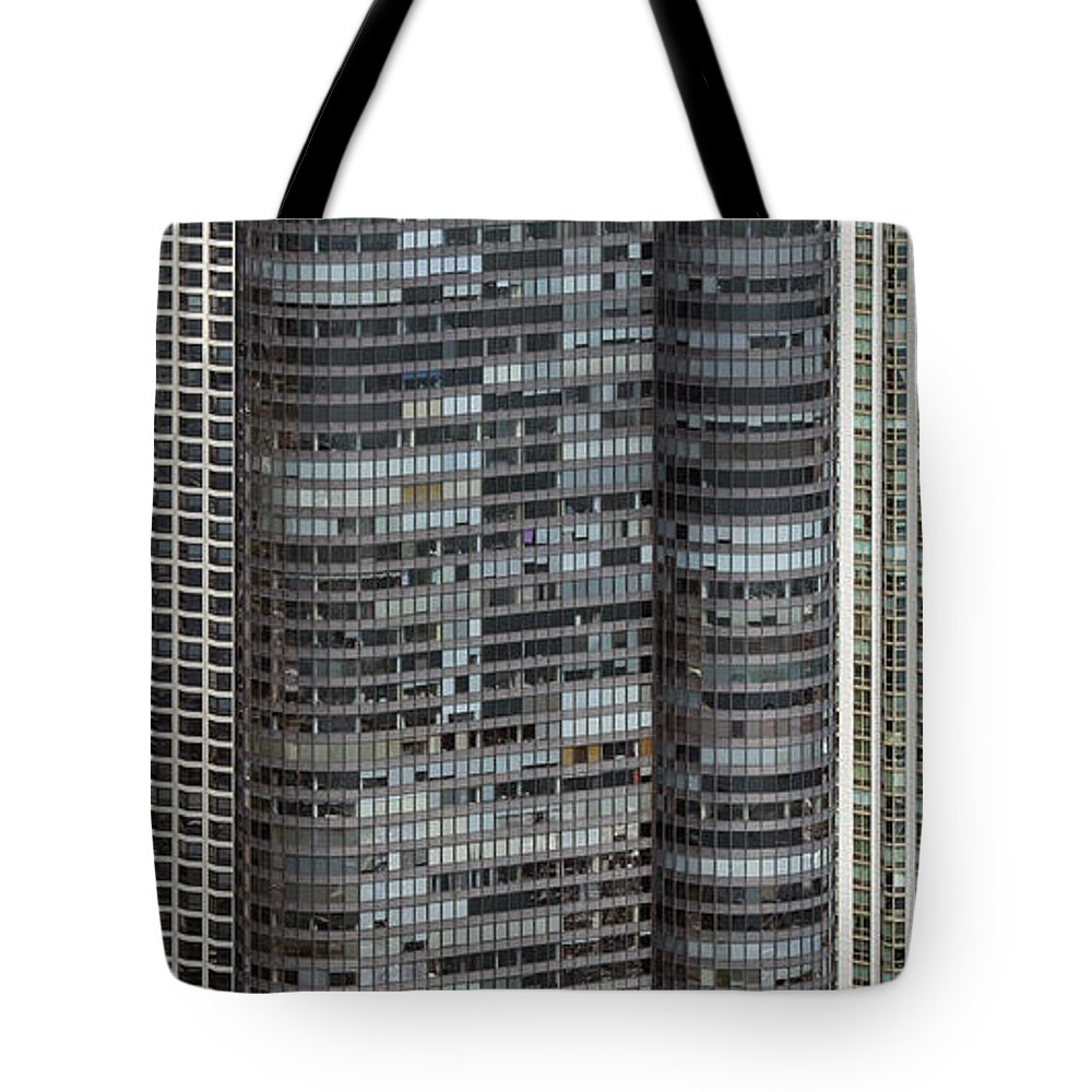Harbor Point Condominiums Tote Bag featuring the photograph Harbor Point Condominium In Chicago by David Oppenheimer