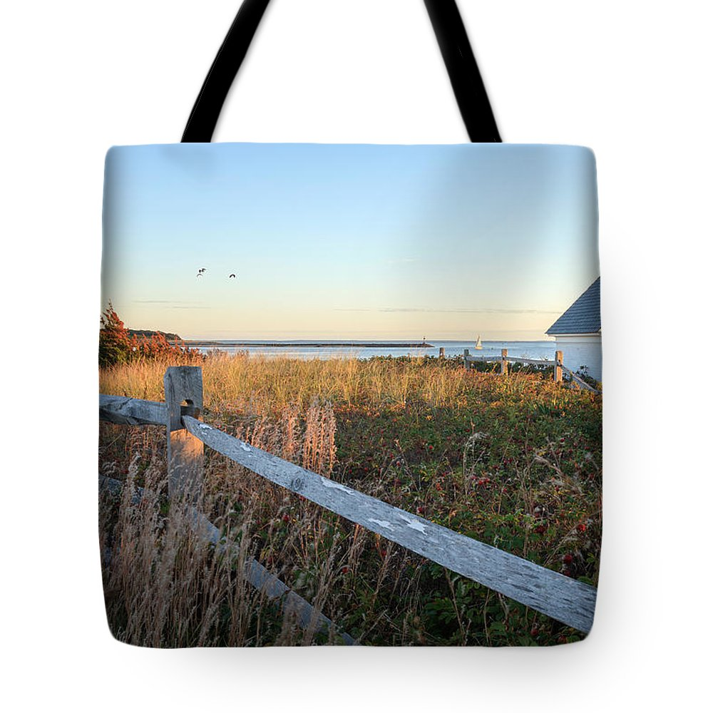 Cape Cod Tote Bag featuring the photograph Harbor Shed by Bill Wakeley