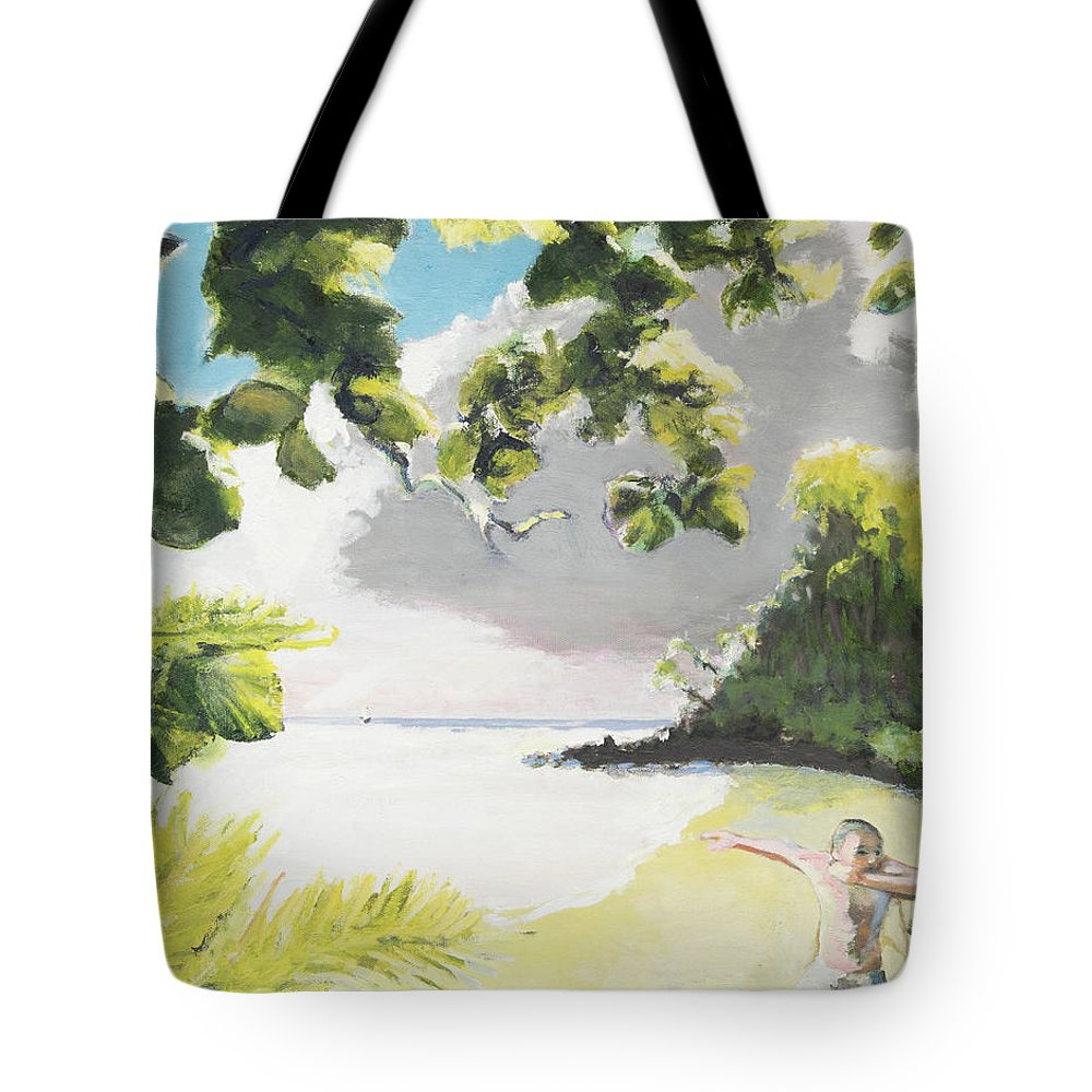 Hawaii Tote Bag featuring the painting Hark Hawaii by Craig Newland