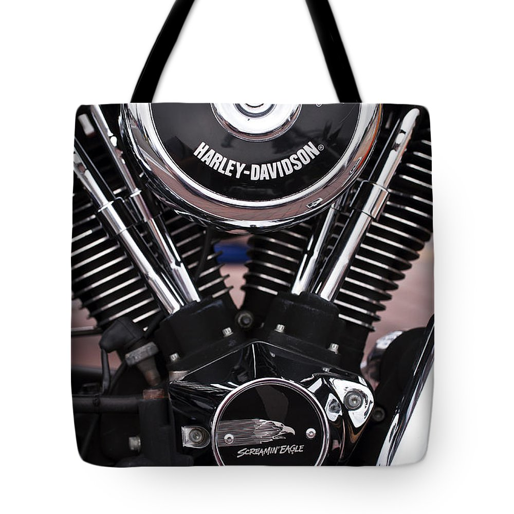 Hd Tote Bag featuring the photograph Harley Davidson Screamin Eagle by Glenn Gordon