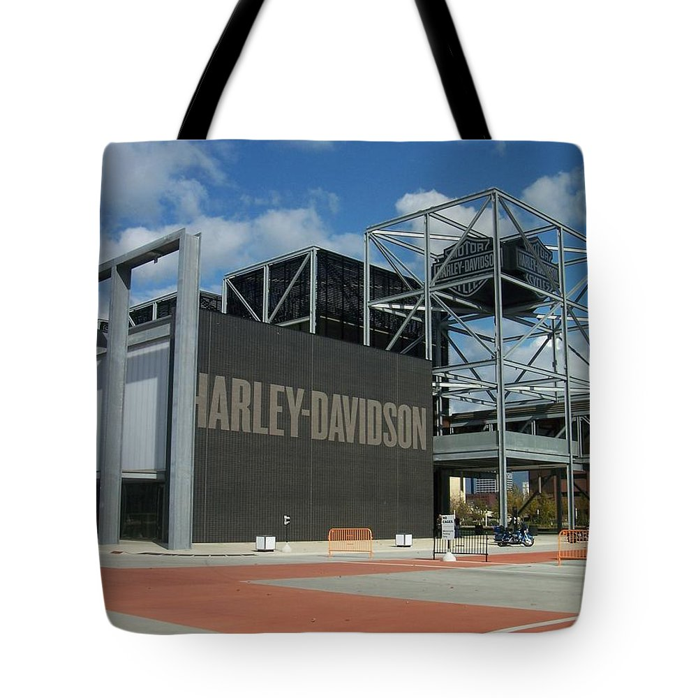 Tote Bag featuring the photograph Harley Museum by Anita Burgermeister
