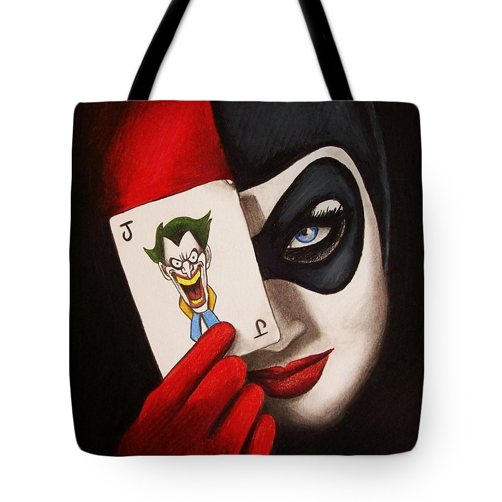dd1fcb768d Harley Quinn Batman Tote Bag featuring the drawing Harley Quinn by Amber  Stanford