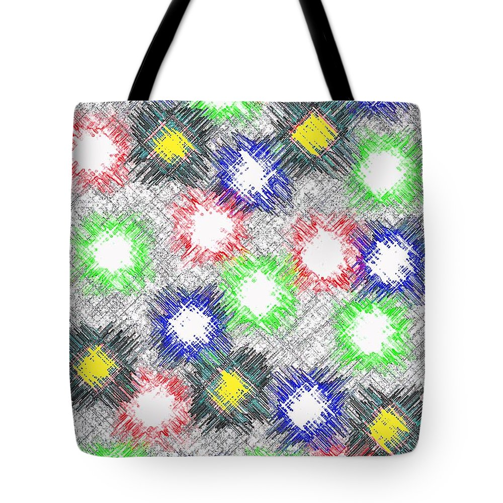 Abstract Tote Bag featuring the digital art Harmony 32 by Will Borden