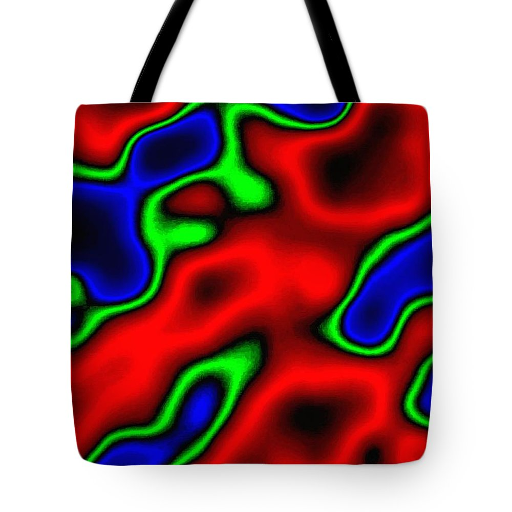 Abstract Tote Bag featuring the digital art Harmony 35 by Will Borden